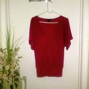 EXPRESS SLEEVE BLOUSE SIZE-S-COLOR RED.